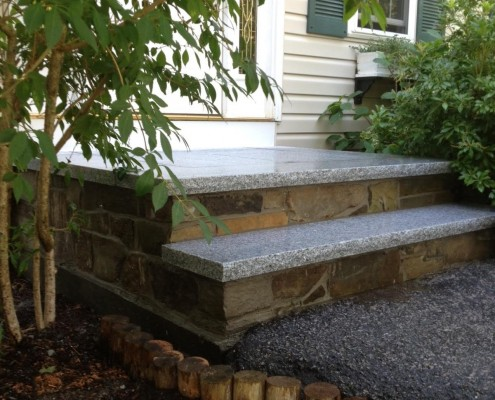 Steps-retaining walls